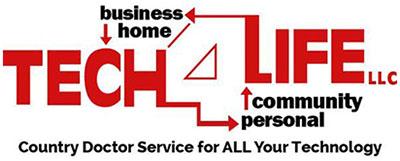 Tech 4 Life Custom Website Design & Digital Marketing Logo