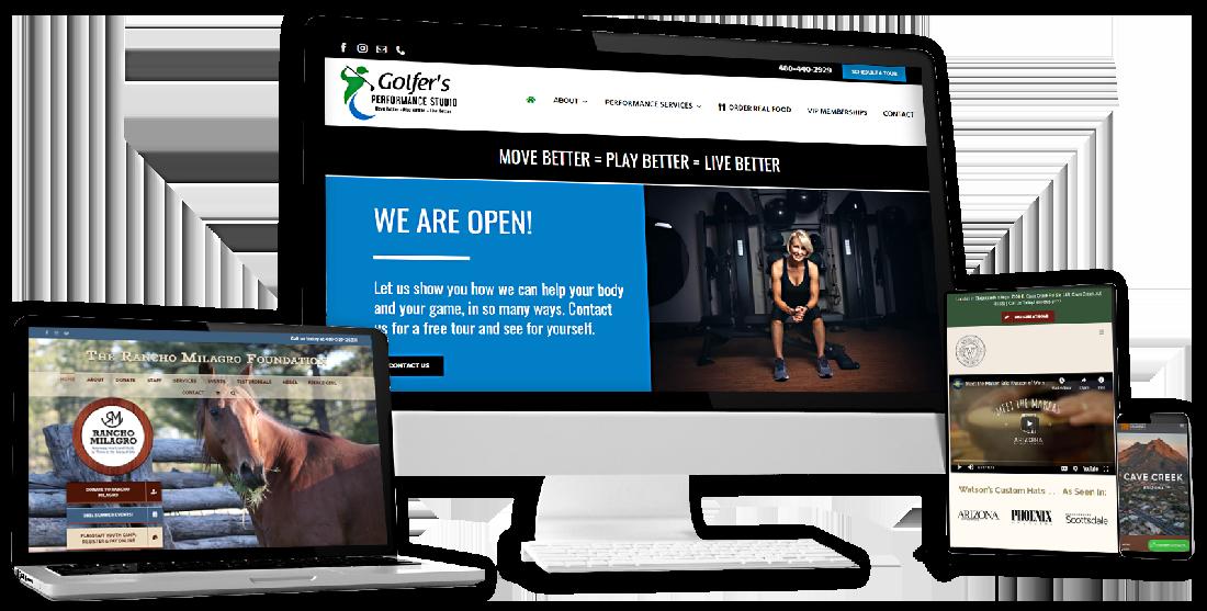 custom website design in cave creek